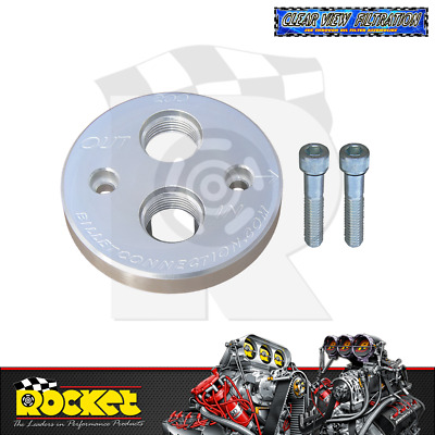 Clear View Billet Oil Block Adapter Kit CLEAR (Small/Big Block Chev) - CV200