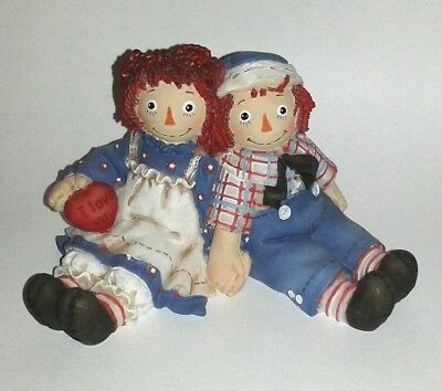 "Vintage Simon & Schuster RAGGEDY ANN & ANDY ""Forever True"" Figurine Numbered"