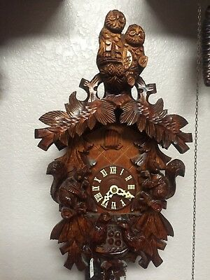 Cuckoo Clock 1 day (Very Detailed Carvings)
