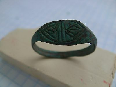 Ancient bronze ring tatar's ring vintage ring artifact relics