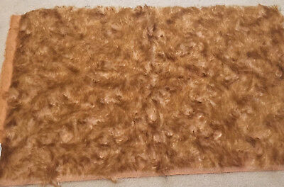 MOHAIR Fabric Piece Bear Making - Swirly Tipped EDINBURGH IMPORTS