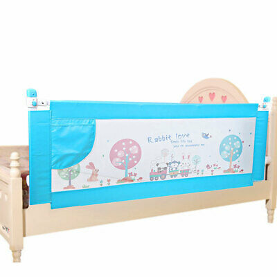 Baby Bedrail Safety Bed Rail Cot Guard Protection Child toddler Kids 180cm Blue