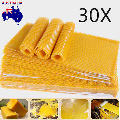 Honeycomb Foundation Bee Hive Wax Frames Waxing Beekeeping Equipment Bee 30Pcs A