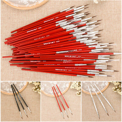 10Pcs/Set Fine Hand-painted Thin Hook Line Pen Drawing Art Pens Paint Brush New