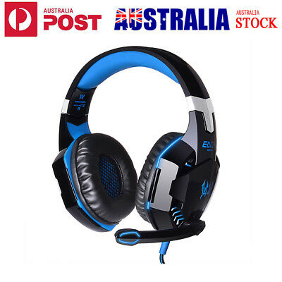 3.5mm Cool Gaming Headset MIC LED Headphones for PC Mac Laptop PS4 Xbox One 360
