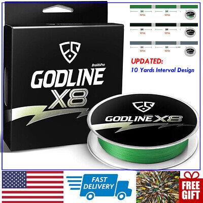 FISHINGSIR GODLINE X8 Braided Fishing Line 8 STRANDS Saltwater Superline 10-65LB