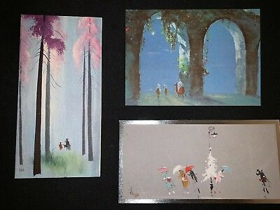 Lot Of 3 Vintage Unused Tyrus Wong Xmas Greeting Cards