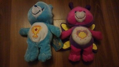 "2003 8"" Care Bears Lot Champ Bear Shine Bright Bear Plush"