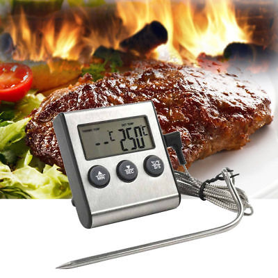 Digital Probe Food Cooking Timer Kitchen BBQ Oven Grill Meat Thermometer Tools