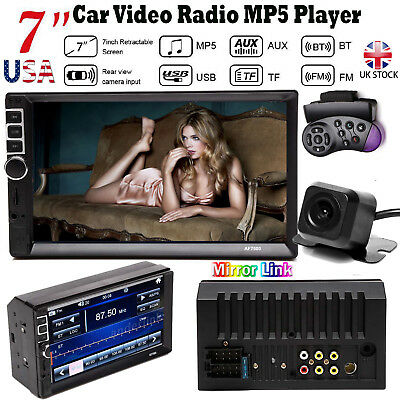 """Double 2 Din In Dash Car 7"""" MP5 Player Radio Stereo with Rear Reversing Camera"""