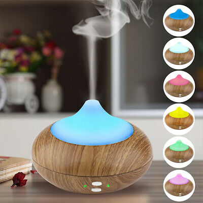 LED 7 Colour Ultrasonic Aroma Essential Oil Diffuser Air Purifier Humidifier New