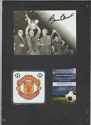 Signed postcard by Bobby Charlton the Manchester United & England footballer