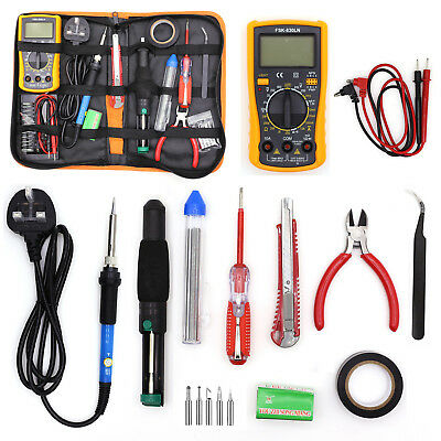 18 In 1 Soldering Iron Kit 60W 220V Electronic Welding Irons Tool Set Adjustable