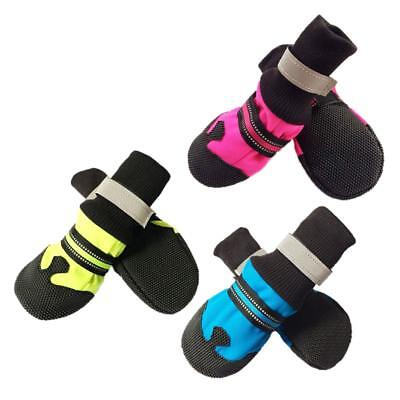 4Pcs Waterproof Pet Non-slip Breathable Shoes Dog Cat Snow Boots Warm Puppy Shoe