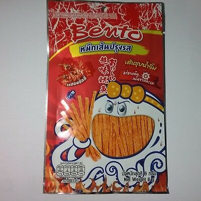 1 Pc. New flavored super hot chilli  and sweet squid snack seafood with proteins