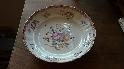 Coupe  Porcelaine De Chine Famille Rose Decor Floral  18 Eme Siecle