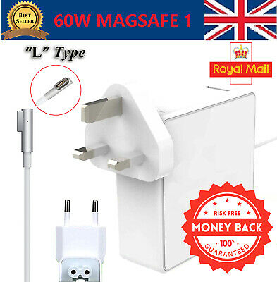 """60W AC Power Adapter Charger For Macbook Pro 13"""" MagSafe 1 A1181 A1278 A1184 UK"""
