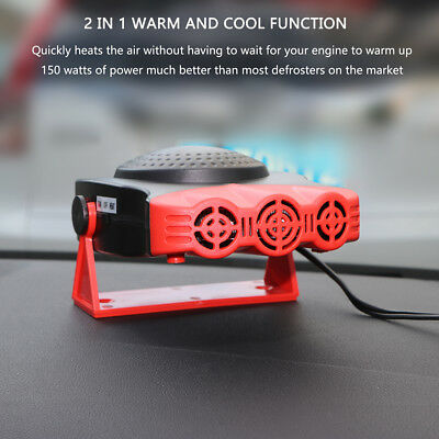 150W 2in1 12V Electric Car Heater Fan Heating Vehicle Ceramic Defroster Demister