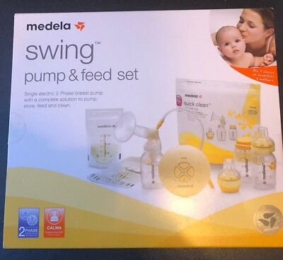 Medela Swing Pump and Feed Set Single electric 2 Phase Clama No 1 Rated Sealed