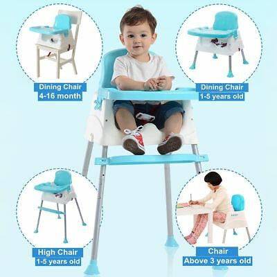 Portable Baby High Chair Infant Toddler Eating Feeding Booster Seat Adjustable