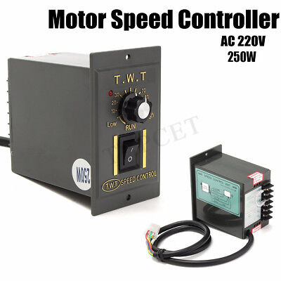 AC 220V 250W Motor Speed Control Switch Variable Frequency Converter Electronic