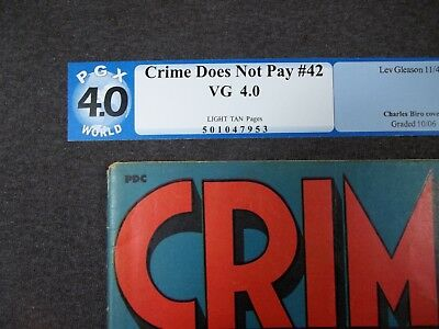 Crime Does Not Pay #42  Electrifying cover art.