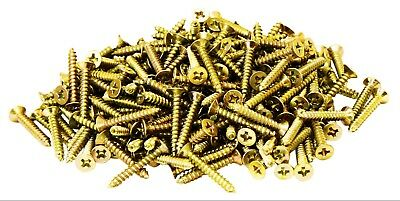 450 pc Chipboard Wood Screws 3.0 x 20mm Various Length Pozi Countersunk Threaded