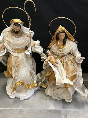 """Christmas In July Holy Family figurine Hand Made 17.25"""" /45cm Nativity Religious"""