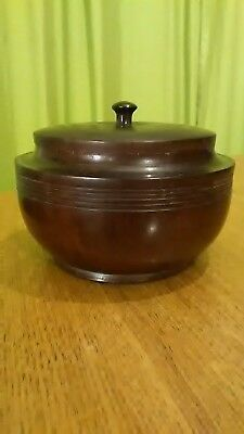 RoseWood Turned  Pot With Lid