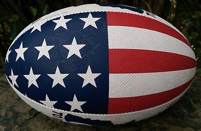 NEILSON LEGEND USA Uncle Sam I WANT YOU TO PLAY RUGBY rugby ball Tri-Grip sIze 5