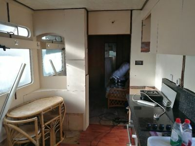 1960s Showman's trailer caravan with pull out side