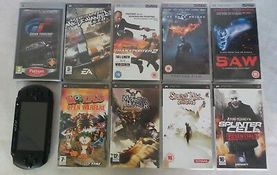 Psp Street console 6 games 3 movies 2gb sd card