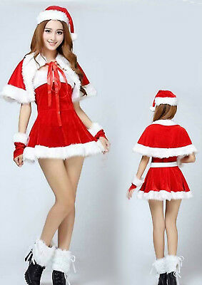 9a692d33d New Ladies Mrs Santa Claus Outfit Xmas Sexy Costume Adults Christmas Fancy  Dress
