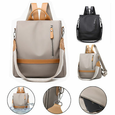 Women Waterproof Anti-theft Oxford Cloth Backpack Travel Rucksack Shoulder Bag