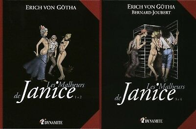Adult Erotica The Troubles of Janice 1+2 & 3+4 Erich von Gotha (French) HARDBACK
