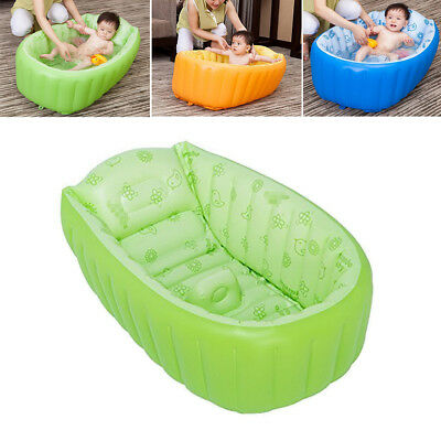 Safety Bath Tub Inflatable Portable for Newborn Baby Kid Bathing Shower Swim NEW