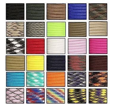 Nice 550 Paracord Parachute Cord Lanyard Mil Spec Type III 7 Strand Core100FT Q@