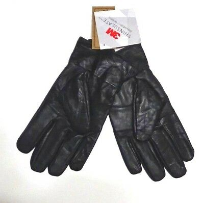 Genuime Leather 3M Thinsulate Men Gloves Black XL Lined
