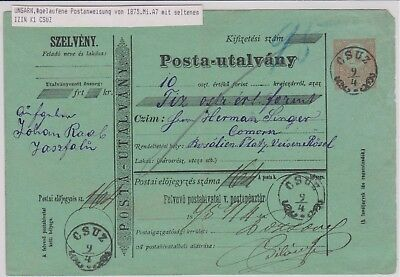 Hungary / Ungarn  1875 old postcard / alter Postbeleg etc. - used #12