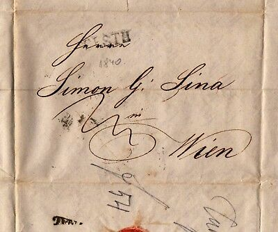 Hungary / Ungarn  1840 old letter / alter Faltbrief #8