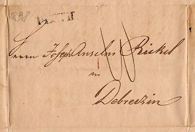 Hungary / Ungarn  1838 old letter / alter Faltbrief #7