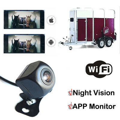 Wi-Fi HD Horse Trailer CCTV Camera Monitor iPhone & Android