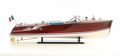 """Riva Triton Speed Boat Painted Large 36"""" Wood Model Assembled"""