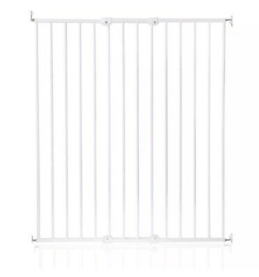 Scandinavian ExtraTall Wall Mounted Screw Fitted Baby/pet Safety  Gate White