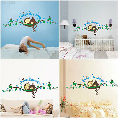 814F Kids Monkey Sweet Dream Removable Wall Sticker Pasters Decal Nursery Decor