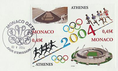 Monaco Sc. 2334 2004 Summer Olympics Athens Runners on 2004  Large FDC