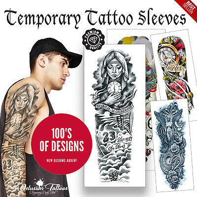 Realistic Temporary Tattoo Sleeve Full Arm Waterproof Tattoo Transfers Body Art