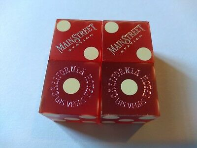 2 Pair Vtg. Casino Dice From *** Las Vegas,nv***       ***matched Numbers***