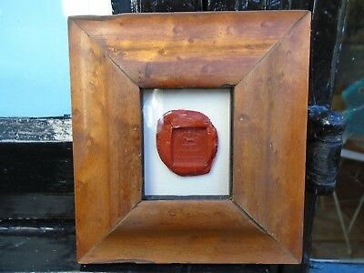 Wax Seal  Dog. Georgian.  In Maple Frame. Circa Early 19th. 6.