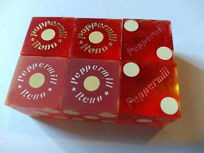 3 Pair Vtg. Casino Dice  ***peppermill*** Reno,nv **2 Non #d 1 Non Matched #s**